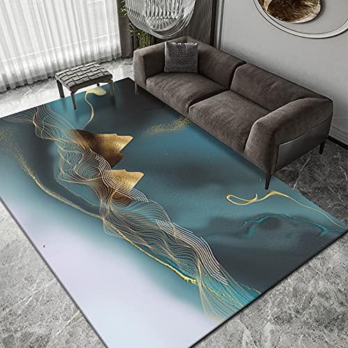 Alfombra De Mosaico De Dormitorio De Tinta De Estilo Europeo Alfombras De Piso De Mesa De Centro De Sala De Estar Abstracta Alfombrillas De Alfombra De Oficina Nórdica