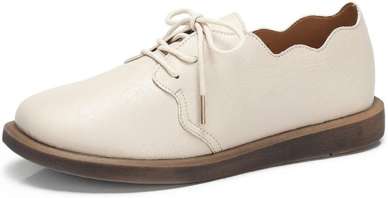 Autumn British Style Comfortable Flounced Retro Flat Heel Lace Single shoes Female color Optional