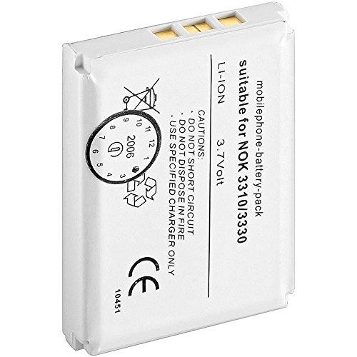 Wentronic 43331batteria ricaricabile–batteria/batteria ricaricabile (agli ioni di litio, 1300mAh, Navigatore/computadora cellulare a mano/telefono cellulare, 3,7V, colore: bianco, BLC-2, BMC-3)