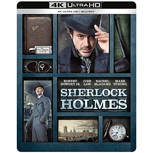 SHERLOCK HOLMES 4K ULTRA HD LIMITED EDITION STEELBOOK / IMPORT / INCLUDES Blu RAY / REGION FREE /