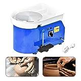 Mein LAY Pottery Wheel Forming Machine 25CM Electric Pottery Wheel DIY Machine with Foot Pedal for Ceramic Work Clay Art Craft 110V 350W (Blue)