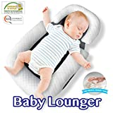 Comfyt Baby Lounger Portable Bassinet Baby Pillow Travel Crib Baby Pillow Baby Nest Co Sleeping Newborn Lounger Infant...