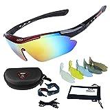Occhiali da Sole Sportivi,Sincewe Anti-UV 400 Protezione Ciclismo Occhiali da Sole con 5 Lenti...