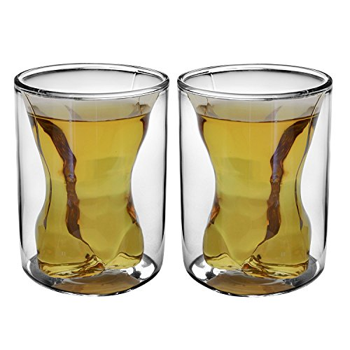 NDHT Couple Cups Naked Muscle Man Wine Glass/Drink cup/Cocktail glass/Whisky glass,300ml/each,5.7 oz/each,Set of 2