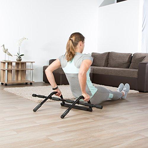 Ultrasport Barra de dominadas, barra fija para puerta, aparato multifunción para entrenar el tren superior en casa y en la oficina, pull up bar, flexiones, para diversos ejercicios