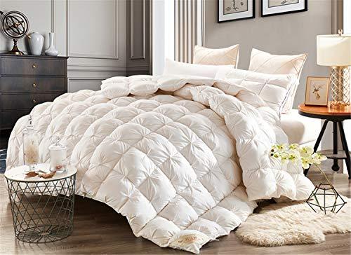 BIANJESUS - Edredón (100% algodón, 200 x 230 cm, 220 x 240 cm), Color Blanco, A, 220 * 240