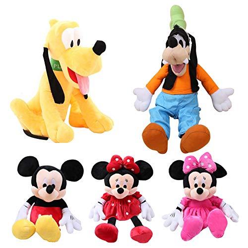 aolongwl Plüschtier 5pcs / Mickey Maus Minnie Plüschtiere Niedlicher Doof Hund Pluto Hund Kawaii Gefülltes...