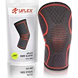 UFlex Athletics Knee Compression Sleeve Support for Running, Jogging, Sports - Brace for Joint Pain Relief, Arthritis and Injury Recovery - Single Wrap Size Medium