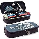 Divertido Pitbull Vintage Funda de lápiz con cremallera de cuero Artículos de papelería hechos a mano Suministros de arte Oficina universitaria Lápiz Mantener en bolsa de lápices Unisex