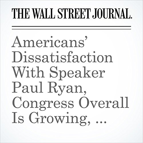 Americans' Dissatisfaction With Speaker Paul Ryan, Congress Overall Is Growing, Poll Finds copertina
