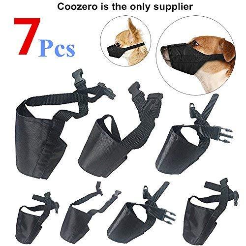 CooZero 7 Piece Adjustable Dog Muzzle Set