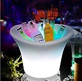 Augrous Champagne Du vin Seau à glace LED 16 Couleur En changeant 3 Litres Plastique Imperméable Rechargeable avec Éloigné pour Bar Des soirées