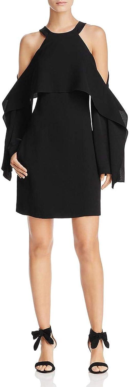 BCBG Max Azria Womens Tristyn Cold Shoulder Mini Party Dress