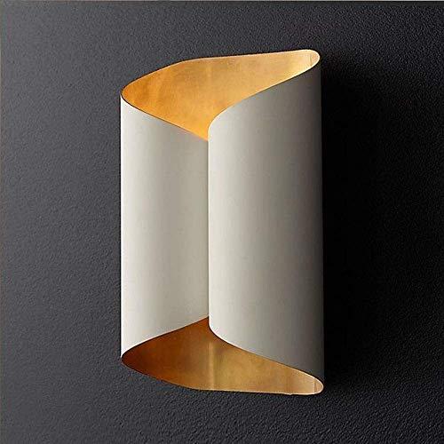 BXU-BG Creative Arts Lámpara de pared minimalista para sala de estar, junto a un sofá cama, dormitorio, 2 lámparas de pared G9 (18 x 27,5 cm) de alto sabor brillante