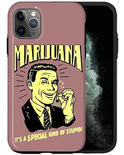 JUSPHY - Funda para teléfono compatible con iPhone 11 Pro Max, diseño de marihuana retro DP291, diseño de moda, diseño de moda, accesorios de teléfono