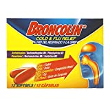 BRONCOLIN Broncolin Cold & Flu Relief Softgel, 2-Pack of 12 Count Tablets, 2 Count
