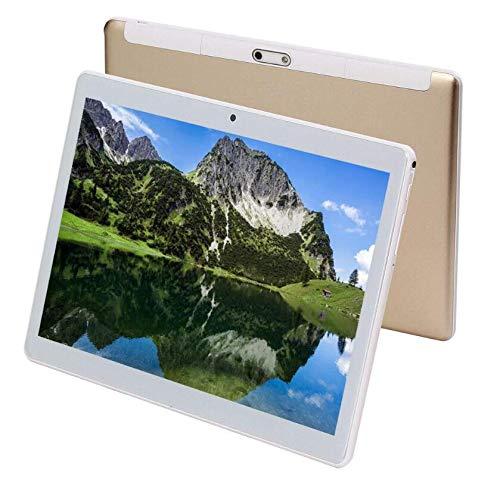 TEENO Tablet 10.1 Pollici con WiFi / 4G / Bluetooth, Quad Core,RAM 2GB, ROM 16 GB,Dual Camera 8MP+5MP,2* Standard SIM Slots,1* SD Slot,Android. (Oro)