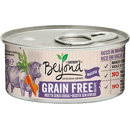 Beyond Purina Humido Gato Grain Free Rico en Carne con Zanahorias - 12 latas de 85 g Cada una (12 x 85 g)