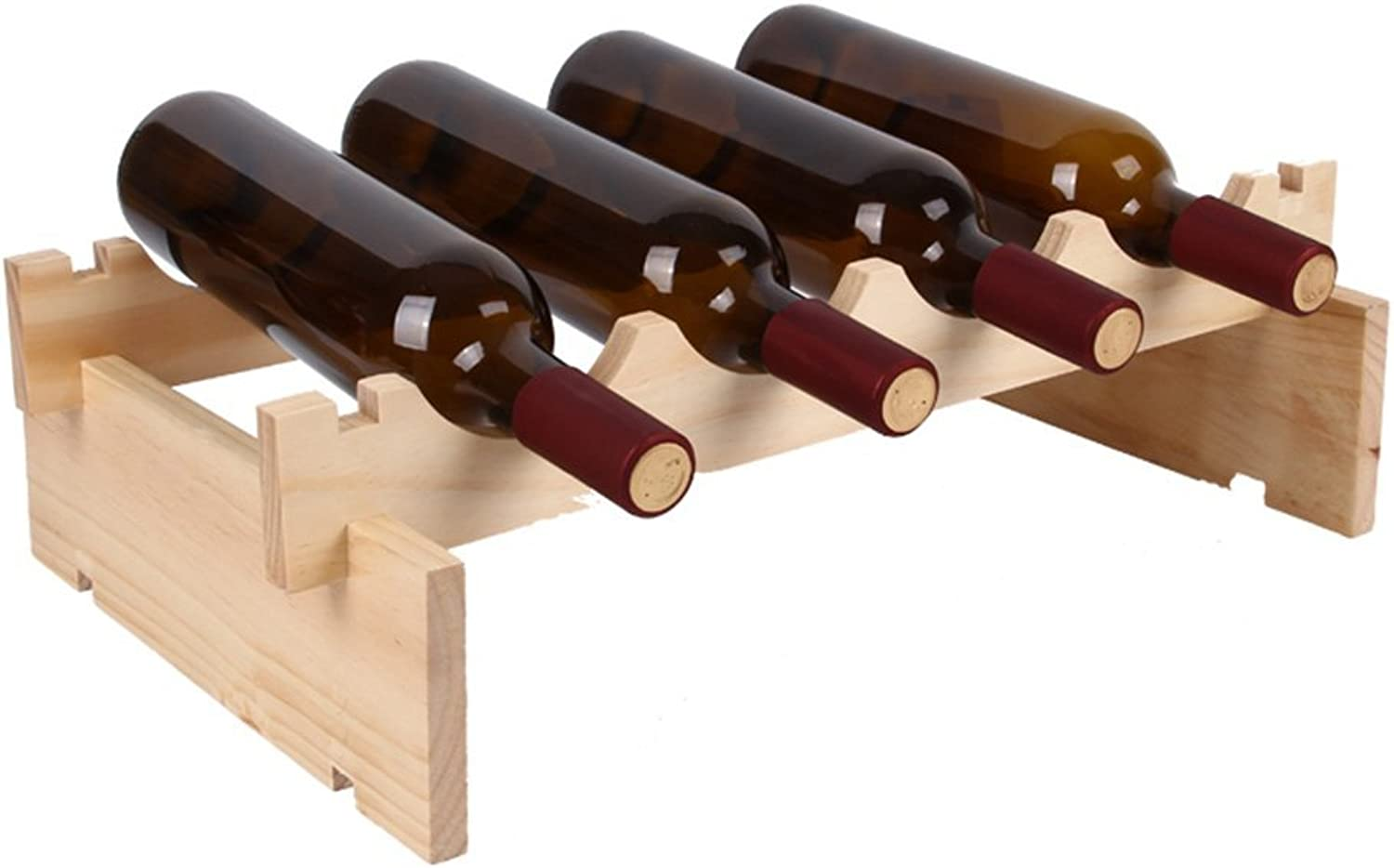 Red Wine Shelf Solid Wood Stackable Home bar 1-4 Layer Wine Cabinet Decorative Racks & Holders (Size   3 Storey) (Size   1 Storey)