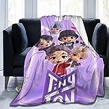 BTS Blanket Soft Fleece Throw Blankets Home Decor Bedroom Living Room SofaDigital Printed Blankets for Traveling Camping Size 60X50 inch