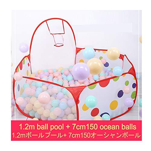 WGXQY Kinder Bällebad 120Cm/150 Bälle,Baby Spielzelt Mit Mit Mini Basketballkorb Bällchenbad Spielbecken Für Drinnen Und Draußen Pink