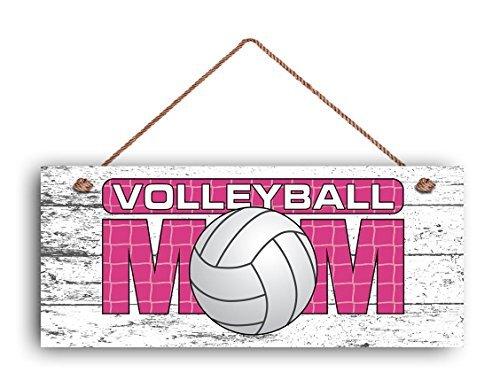 volleyball Mom Sign, Rose Sports signer pour maman, cadeau pour elle, style rustique, 6 et (X 14 et (Panneau, Mom du Joueur de volley-ball Panneau en bois.
