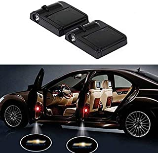 Wireless Car Door Lights, Universal Wireless Car Door Shadow Light Welcome Light Laser Emblem Logo Lamps Kit by FLYEEGO (2pcs CHEVY)