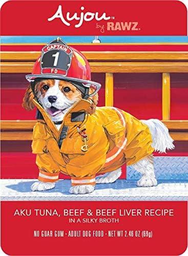 Rawz Aujou Aku Rare Tuna latest Beef Liver 8 Food oz Pouche 2.46 Dog
