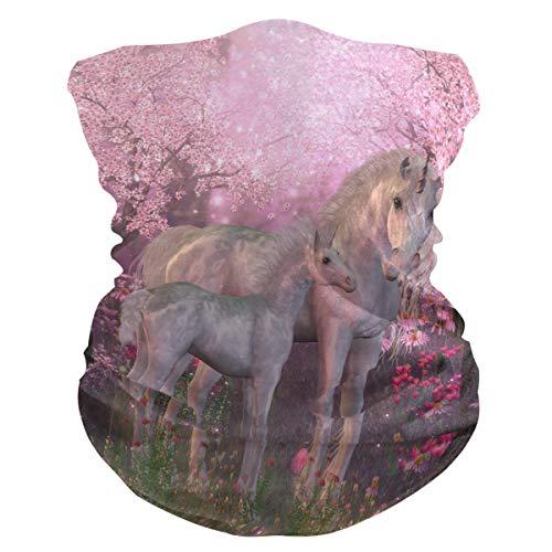 Lerous - Pasamontañas sin costuras, diseño de unicornio, color rosa