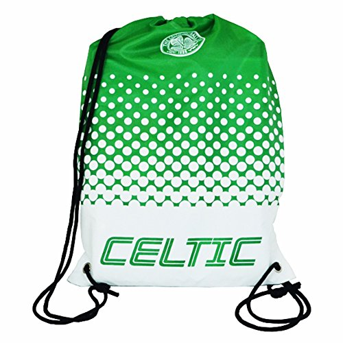 Celtic FC Official Fade Crest Design Gym Bag (One Size) (Green/White)
