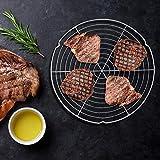 BBQ Mesh - Forme Ronde Barbecue en Treillis métallique Grill Net Barbecue Outil de Pique-Nique Camping en Plein air