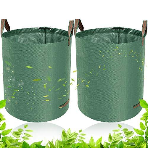 BETOY Gartensack 2 x 60L-2 Premium Gartensäcke-Stabile Gartenabfallsäcke aus Robustem Polypropylen-Gewebe (PP) - Selbststehend und Faltbar Laubsäcke für Gartenabfälle Laub Rasen Pflanz Grünschnitt