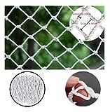 SILOLA Weißes dekoratives Netz im Freien Weißes sicheres Netz Hängende Kleidung Netz Kindertreppenschutznetz Waren Netz Haushaltskatze Netz Kindergarten Spielplatz Breite 1,2 m Multi-Size