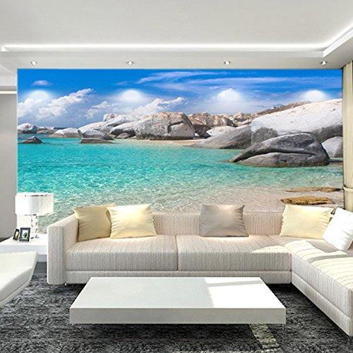 Wongxl Die Tapete An Der Wand Ein Großes Wandbild Hd Ozean Riff Landschaft Wallpaper Tv Im Wohnzimmer Wand 3D Tapete Hintergrundbild Fresko Wandmalerei Wallpaper Mural 150cmX100cm