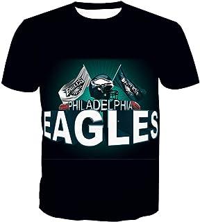 Hombres 3D Sudaderas Camiseta Philadelphia Eagles NFL Patrón Uniforme Patrón Camiseta Impresión Digital Amantes Sudaderas Camiseta