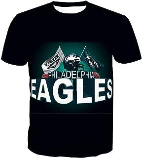 Men's O-Neck Short Sleeve3D Print Philadelphia Eagle Football Team Summer T-Shirts