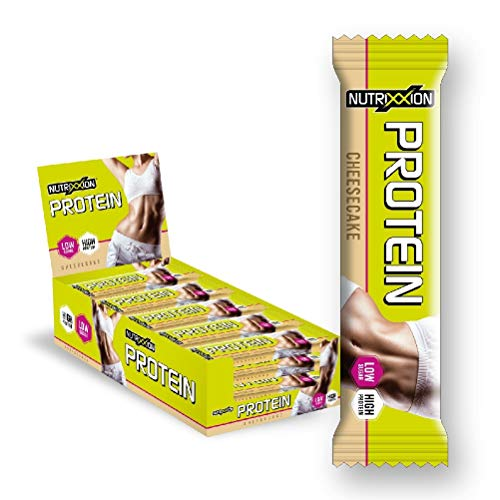 NUTRIXXION Protein Bar High Protein - Low Sugar Fitness Protein Bar for Diet or Muscle Building Set 15 x 35 g Cheesecake Flavour