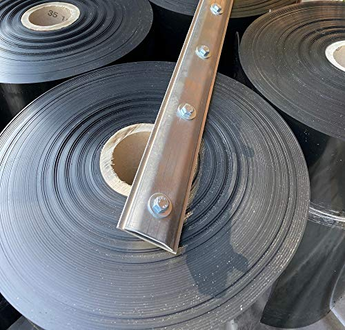 (6,99 €/m) Bundle: 10 Meter Rhizomsperre/Wurzelsperre Stärke 2 mm, Breite 70 cm mit Verschlussschiene