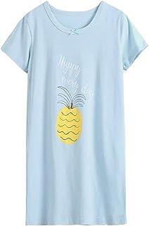 女の子 パジャマ ガールズ ワンピースパジャマ ルームウェア ナイトウェア 子供服 半袖 Tシャツ キッズ ゆったり 部屋着ミニ 寝間着春夏 快適 肌触りがいい 4色 100-170cm