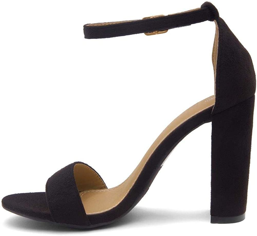 Herstyle Womes Rosemmina, Open Toe, Ankle Strap, Chuncky