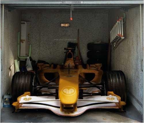 style-your-garage.com Garagentor Fotoplane Rennwagen, B 245 cm x H 210 cm
