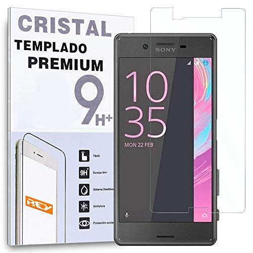 REY Protector de Pantalla para Sony Xperia X, Cristal Vidrio Templado Premium