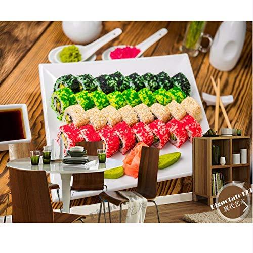 Pmhc muurschildering, zeedieren, sushi-fotobehang, 3D-behang, voor woonkamer, keuken, behang, decoratie voor thuis, restaurant, bar 200 x 140 cm.