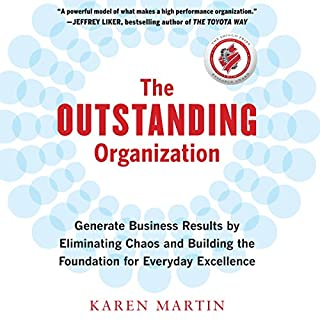 The Outstanding Organization     Generate Business Results by Eliminating Chaos and Building the Foundation for Everyday Excellence              By:                                                                                                                                 Karen Martin                               Narrated by:                                                                                                                                 Karen Martin                      Length: 6 hrs and 5 mins     Not rated yet     Overall 0.0