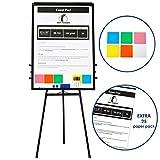 Whiteboard mit Ständer/Flipchart Set 100 x 70cm - stehend Magnettafel mit Stativ + 1 Magnetischer...