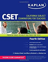 Kaplan CSET: California Subject Examinations for Teachers (Kaplan Cset: The California Subject Examination for Teachers) by C. Roebuck Reed (2010-11-30)