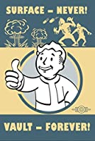 Fallout 4 Surface Never - Vault Forever Vintage Metal Sign Replica (輸入版)