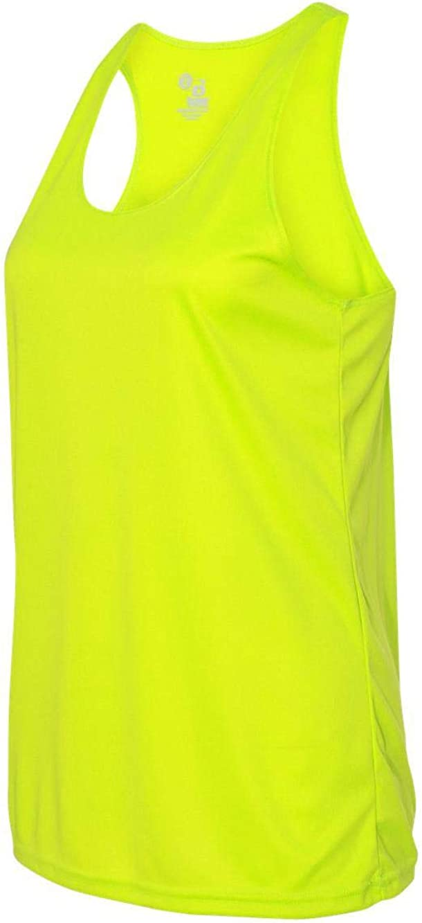 Selling and selling Badger 4166 - B-Core Ladies' Top Tank Yellow Racerback Safety Cheap SALE Start