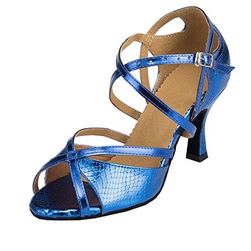 MGM-Joymod , Damen Jazz & Modern , Blau - Style2 Blue/7.5cm Heel - Größe: 35.5