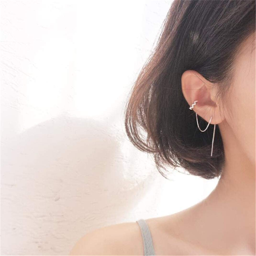 Airlove Wave Cuff Earrings Wrap Women Special price Tassel Max 76% OFF Thread for
